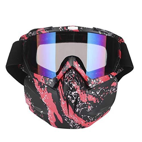 aqxreight - Gafas de sol de motocross, Hombres Mujeres Gafas de motocicleta Gafas de moto de nieve Esquí Snowboard Invierno Nieve Gafas de sol al aire libre a prueba de viento(rojo)