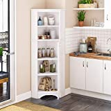 Prepac Elite Corner Storage Cabinet, Tall 2-Door, White