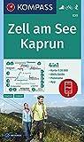 KOMPASS Wanderkarte Zell am See, Kaprun: 4in1 Wanderkarte 1:35000 mit Aktiv Guide und Panorama inklusive Karte zur offline Verwendung in der ... Skitouren. (KOMPASS-Wanderkarten, Band 30) - KOMPASS-Karten GmbH