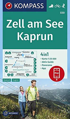 KOMPASS Wanderkarte Zell am See, Kaprun: 4in1 Wanderkarte 1:35000 mit Aktiv Guide und Panorama inklusive Karte zur offline Verwendung in der ... Skitouren. (KOMPASS-Wanderkarten, Band 30)