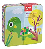 APLI Kids - Caja metálica con juego de gomets preescolar Animales