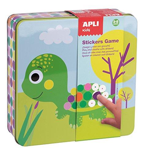 APLI Kids - Caja metlica con juego de gomets preescolar Animales
