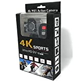 Action Camera Full HD WiFi Connection 30m Underwater Waterproof Camera Wireless on Wrist Remote Control with 2 Batteries and Mounting Accessories Kit