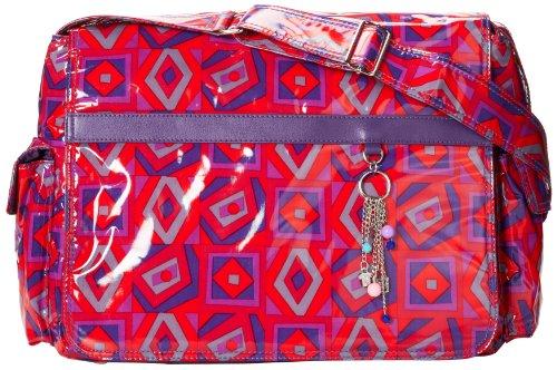 Hadaki Multitasker Pod Laptop Messenger Bag,Tic Tac Toe Berry,one size