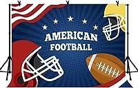 新しい5x3ftアメリカンフットボールの背景スポーツテーマ写真の背景キッズボーイBirtNEWayパーティーケーキテーブルの装飾写真スタジオの小道具49