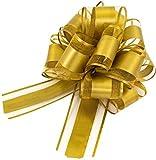 JPYH Lazos Regalo,5 Piezas Lazo de Tirar de Organza Grande Lazo de Envolver Regalo, para Envolver Regalos, para Navidad, Bodas, San Valentín, decoración, etc.