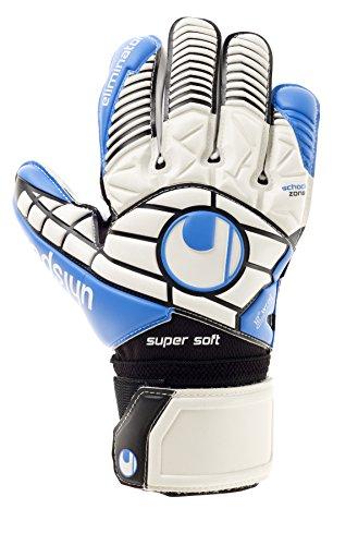 uhlsport Handschuhe Eliminator Supersoft, weiß/Schwarz/Energy blau, 9.5