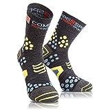 compressport proracing socks v2.1 winter trail, calze uomo, grigio, t3