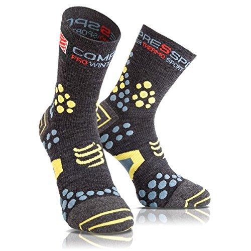 COMPRESSPORT - Pro Racing Socks V2.1 Winter Trail, Color Grey, Talla EU 37-39