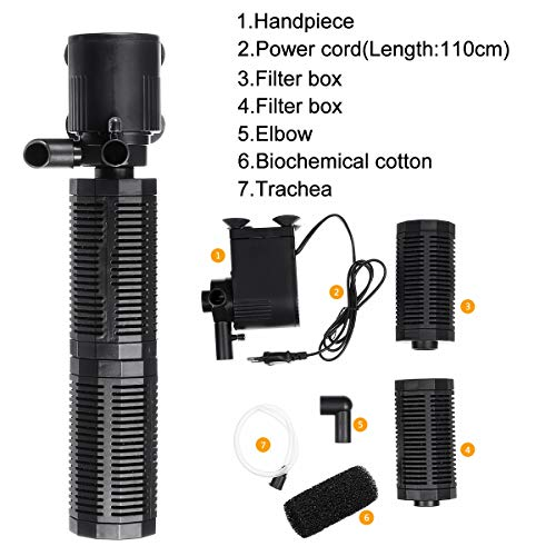 Biologische Interne Filter Fish Tank Aquarium filtratiepomp 800-2200l / h Dompelpompen Aquarium Waterpomp