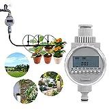 Controladores solares del sistema de riego con temporizador de riego automático inteligente con pantalla LCD digital para el jardín de su casa