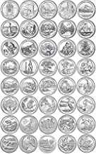 43 P National Park Quarters 2010-2018 with Folder P Mint Brilliant Uncirculated