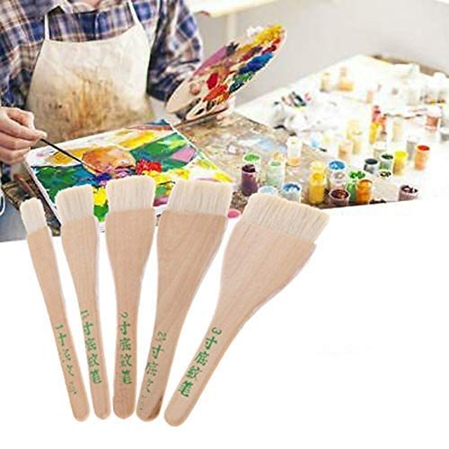 CHXIHome Goat Hair Paint Brushes Six Size Watercolor Acrylic Painting Brus, Oil Paint Art Supplies, Watercolor Painting Acrylic Paint Brushes(C)