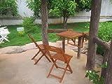 Jardín para colgar en el balcón mesa 2 sillas eucalipto FSC-madera, barnizada