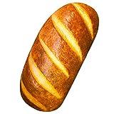 Fheaven (TM) 3D Bread Shape Pillow, Funny Simulation Bread Shape Pillow Soft Lumbar Back Cushion Plush Stuffed Toy for Home Decor