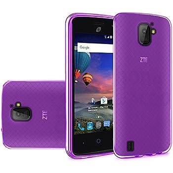FastSun TPU Flexible Skin Gel Case Phone Cover for ZTE Jasper LTE Z718TL  Purple
