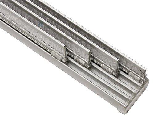 Flächenvorhangschiene 4-läufig aluminium 225
