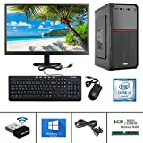 "Desktop Computer Specifications : Gandiva Desktop Computer (Core I3 1st Gen CPU/H55 Board/4GB DDR3 RAM/500GB HDD/USB Keyboard & Mouse/15.6"" Monitor/WiFi) Pre Installed Windows10 & MS Office (Trail Version) and Antivirus (Free Version) Desktop Compute..."