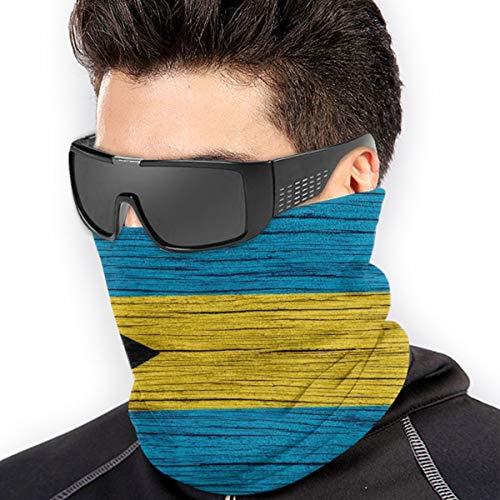 Wooden Texture Bahamian Bahamas Flag Bandana Face Dust Mask For Women Men Half Headband Head Wrap Scarf Balaclava Clothes Dress Cap Clothing Accessories Head Wrap Apparel