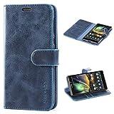 Mulbess Handyhülle für Nokia 6.1 Hülle, Leder Flip Case Schutzhülle für Nokia 6.1 Tasche, Dunkel Blau