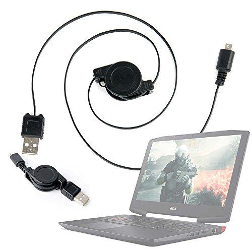 DURAGADGET Cable MicroUSB Retráctil para Portátil Acer...