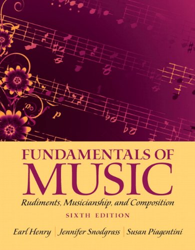 Price comparison product image Fundamentals of Music: Rudiments,  Musicianship,  and Composition (6th Edition)