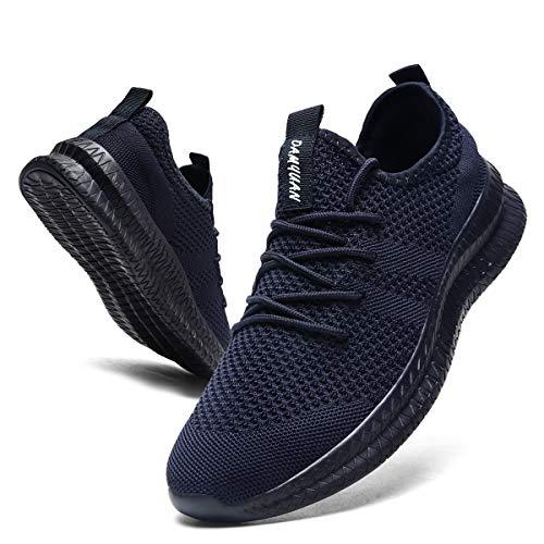 CAIQDM Zapatillas Hombre Deportivas Running Bambas de Exterior Tenis Deportes Zapatos Transpirables Casual Correr Gimnasio Sneaker