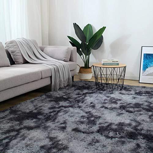 5X8 Dark Grey Area Rugs Modern Home Decorate Soft Fluffy Carpets for Living Room Bedroom Kids Room Fuzzy Plush Non-Slip Floor Area Rug Fluffy Indoor Carpet