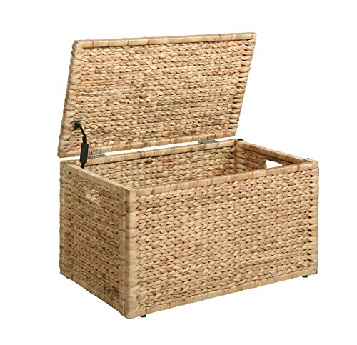 eHemco Heavy-duty Water Hyacinth Storage Trunk, Natural