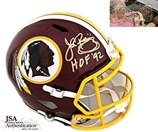 john riggins autographed helmet