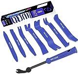 Wetado Trim Removal Tool, Car Upholstery Repair Kit, Car Door Audio Panel Trim Removal Set, Fastener Terminal Remover Tool Set Clips Pry Kit Auto Clip Pliers (8PCS Blue)