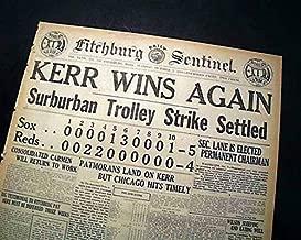 Great BLACK SOX World Series Chicago White vs. Cincinnati Reds SCANDAL Newspaper FITCHBURG SENTINEL-WORLD SERIES EXTRA, Oct. 7, 1919
