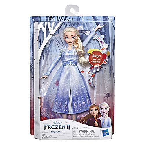 Muñeca interactiva Elsa que cantó (Un jardín secreto) La Reina de las Nieve 2 franceses