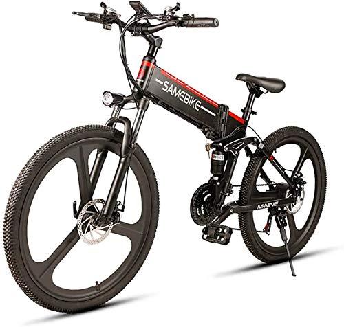 Bici electrica, Bicicleta eléctrica for adultos 26 en Mountain bicicleta eléctrica Velocidad máxima 32 kmh con 350W de motor, la batería de 48V 10Ah for viajes for hombre ciclo al aire libre de trabaj