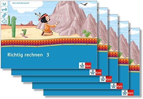 Richtig rechnen 3: Übungsheft Paket (VE 5) Klasse 3 (Mein Anoki-Übungsheft)