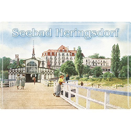 Magnet Seebad Heringsdorf Gr. ca. 8 x 5,5 cm 38138