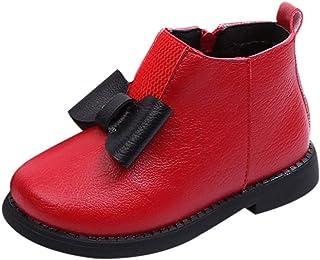 [BAOMABA] ベビーシューズ 子供靴 マーティンシューズ スノーブーツ ブーティ 通学 パーティー 旅行 滑り止め 暖かい 通気性 履き脱ぎやすい ソフトソール かわいい 蝶結び ファッション ガールズ