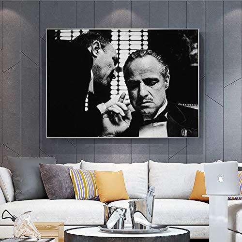 Geiqianjiumai Retro poster en muurschilderijen van de moderne kunst op frameloze schilderij van de canvaszwart-wit-filmwand