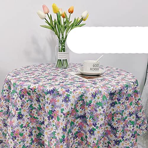 Mantel de Flores románticas decoración de la Boda Mesa Rectangular café Cubierta Elegante Escritorio Fondo niña Dama-patrón púrpura, 80x120