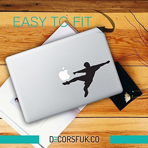 decorsfuk.co Fußballspieler MacBook Aufkleber–Farbe/Schwarz Vinyl/Notebook/Laptop Artwork-Design/Fußball Aufkleber
