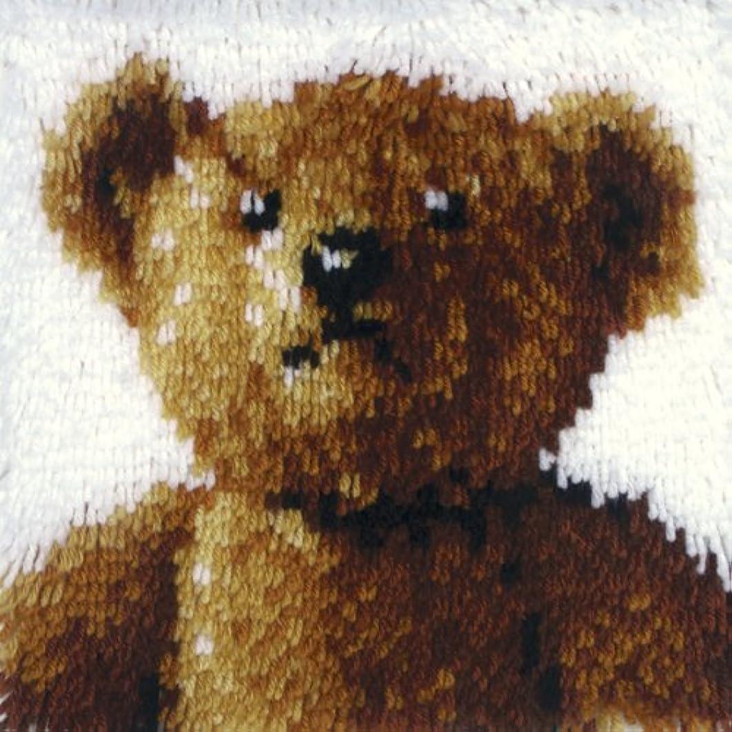 Wonderart 12x12 Latch Hook Kit: Old Tyme Bear