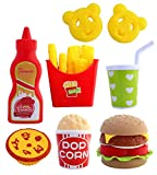 toyshine fast food party play fast food set 18 piece pretend play food toy | best gifts food playset...