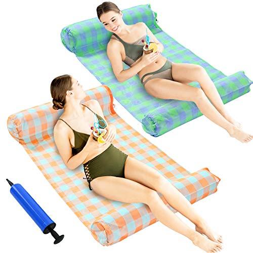 SPERPAND 2 Pack Premium Pool Floats Hammock, Multi-Purpose Water Floats (Saddle, Lounge Chair,...