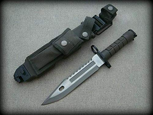 KOSxBO® U.S. Army M 9 Typ-3B - Multipurpose M9 Militär Bajonett mit extrem Sägerücken - taktisches Kampfmesser - USA Knife 39 cm - Messer mit Säge - original Bajonett -