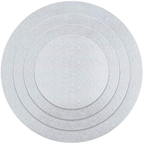 Kupink 4 PCS Bandejas para Tartas Base Tarta Bandejas Carton Reutilizable Placa...