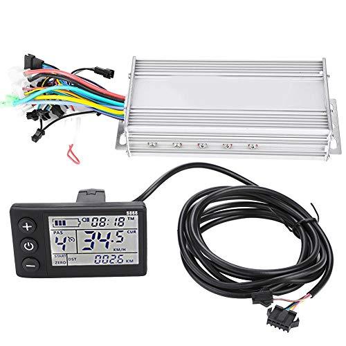 Controlador sin escobillas E-bike, Kit de controlador de motor de scooter de bicicleta eléctrica con panel de pantalla LCD impermeable(1000W 48V)