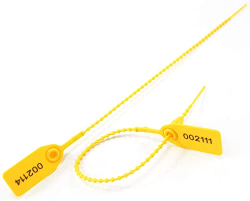 Leadseals(R) 100 PlasticTamper Seals, Zip Ties for Fire Extinguishers Pull Tite Security Tags Numbered Disposable Sel...