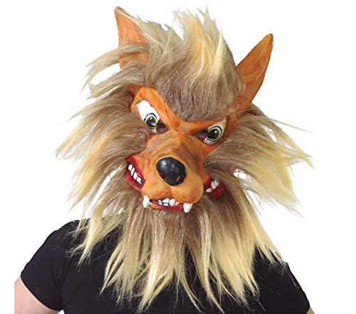 FIESTAS GUIRCA Mascara Lobo con Pelo en Latex
