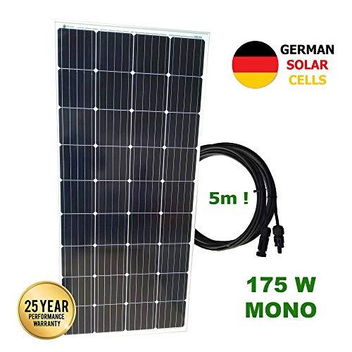 VIASOLAR Kit 175W Pro 12V Panel Solar monocristalino células alemanas