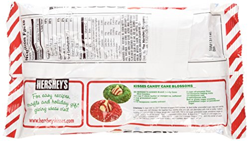 Hershey's Kisses Candy Cane - Mint Candy with Stripes and Candy Bits 10 Oz (Pack of 3)